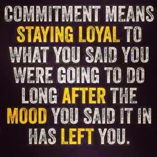 What is the meaning of commitment in a relationship